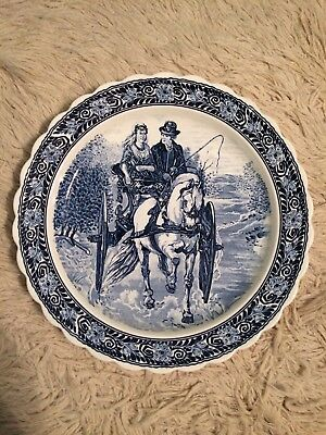 2 Vintage Royal Sphinx Holland Charger Plate Antique Bowl Maastricht Delft