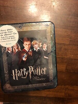 Harry Potter And The Order Of The Pheonix Tin With 6 Foil Packs Trading Cards Ne
