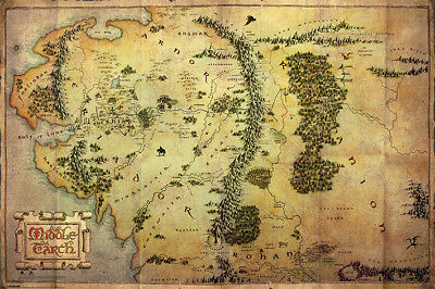 New Maxi Poster The Hobbit Movie Journey Map Middle Earth (102)