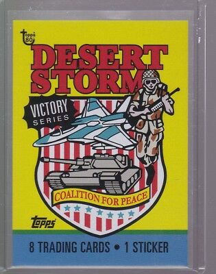 2018 Topps 80th Anniversary Wrapper Art Card #94 - 1991 Desert Storm - Victory