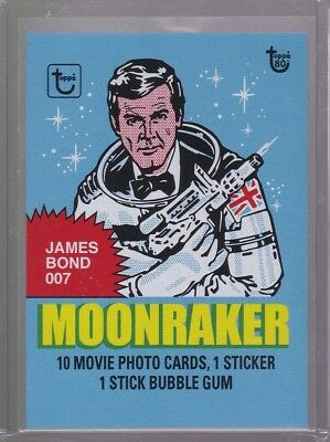 2018 Topps 80th Anniversary Wrapper Art Card #95 - 1979 Moonraker PR 199