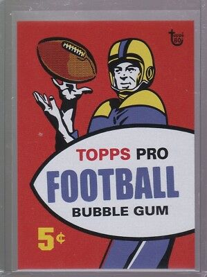 2018 Topps 80th Anniversary Wrapper Art Card #96 - 1957 Football PR 182