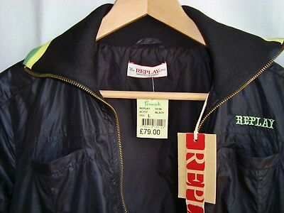 Replay Cropped Retro Shell Tracksuit Top Jacket Size 10 Dance Street Sports BNWT