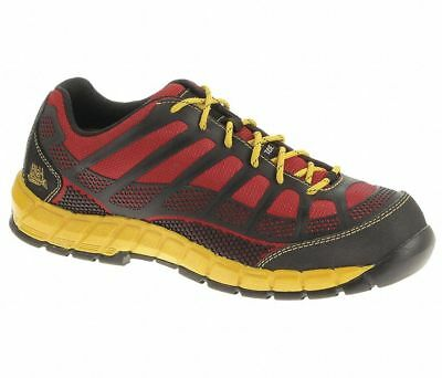 CAT Footwear P90287 Men's Work Shoes | 11 M | Composite Toe | Red/Yellow/Black