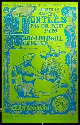 The Turtles 1967 ARTIST-SIGNED Continental Ballroom Concert Poster