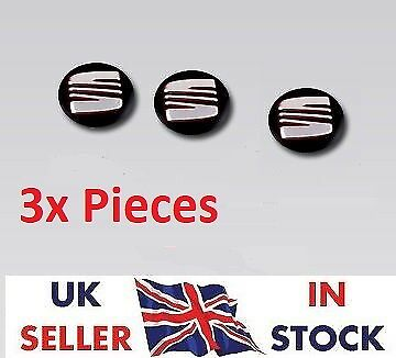 3x NEW Remote Key Fob Badge Emblem Sticker Logo for SEAT 14 mm /-5*-/