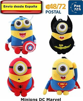 MINIONS Peluche de 22 cm Batman Spiderman Gru mi villano Favorito Despicable Me