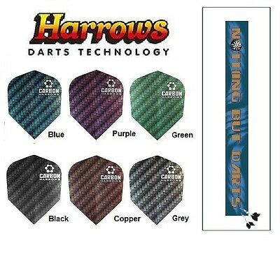 Harrows Carbon Darts Flights Extra Strong Standard Shape (choose your color)