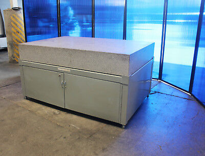 "72"" x 48"" x 10"" Grade A Standridge Granite Surface Plate with Cabinet Stand"