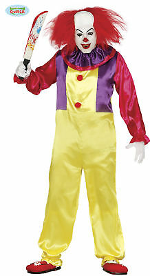 GUIRCA Costume IT pagliaccio assassino clown halloween uomo mod. 84317