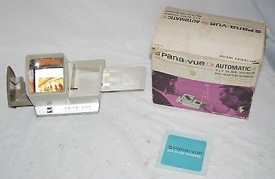"""Pana-Vue Tan Automatic R Lighted 2"""" x 2"""" Stack Slide Viewer by GAF in Box GUC"""