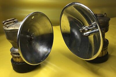 Miners JUSTRITE & SAFESPORT BUTTERFLY CARBIDE LAMPS- WORKING!