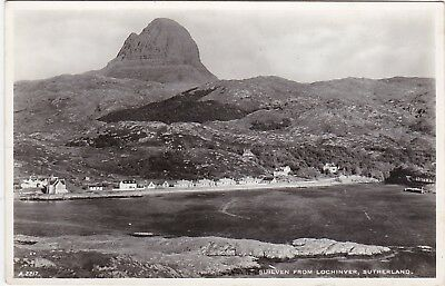 Suilven & General View Of Town, LOCHINVER, Sutherland RP