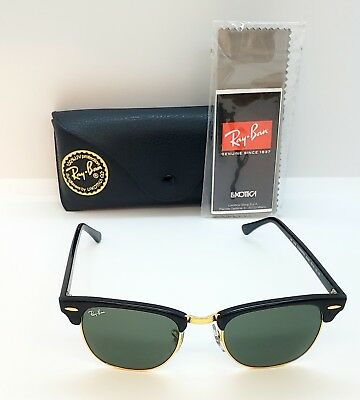 de70519b9 ... authentic authentic ray ban rb 3016 w0365 clubmaster black green  classic 49 21 140 96a92 66a64