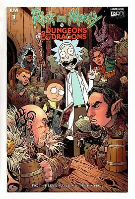 Rick And Morty Vs Dungeons & Dragons #1 1:25 Fowler Variant Idw Oni Comics Vf