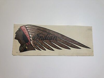 Vintage Indian Motorcycle Decal 1970s Gas Tank Art New Old Stock SHIPS FREE USA