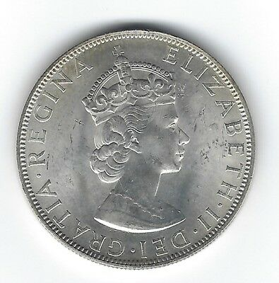 1964 Unc One Crown Silver Coin of Bermuda