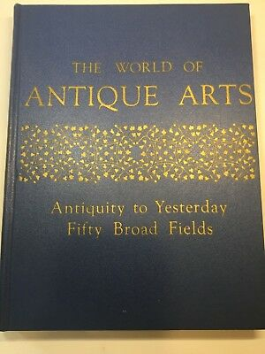 "VINTAGE COLLECTIBLE REFERENCE BOOK ""The World of Antique Arts"", BY Rhoads 1958"