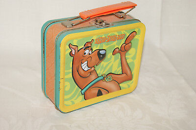 Scooby - Dooby Doo Tin Metal Embossed Lunchbox Sandwich Box - Dent