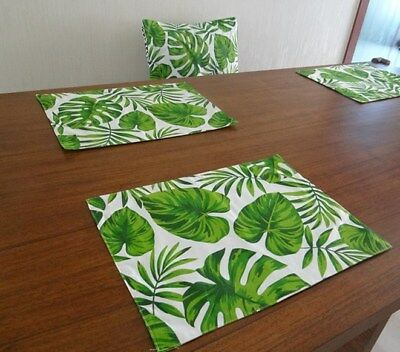 4PCS 100%Cotton double heat Insulation Holly Placemats kitchen dining table mats