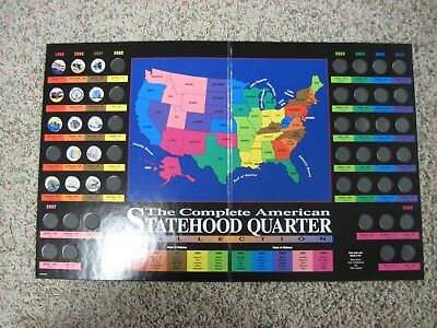 The American Colorized Statehood Quarter Collection book with 14 quarters