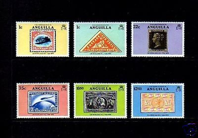 Anguilla - 1979 - Rowland Hill - Rare Stamps - Stamp On Stamp - Mint - Mnh Set!