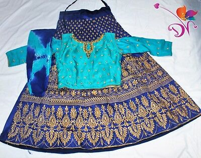 Indian Bollywood Designer Crop Top and Long skirt set Lehanga Ready to wear