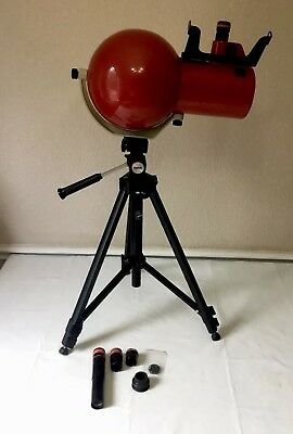 VINTAGE Edmund Scientific Telescope With Tri Pod Tripod Stand Extra Lens *NICE*