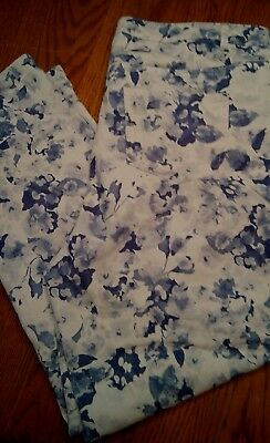 Blue and White Jessica London Floral Denim Size 22W pants