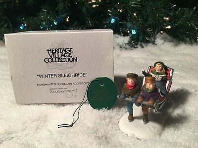 New Department 56 Heritage Village Series Winter Sleighride #5825-4 Accessory