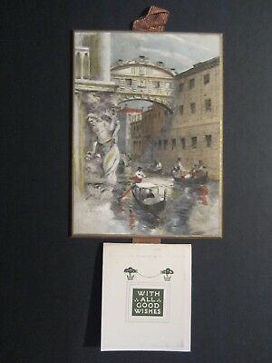 "Raphael Tuck N. 6295 - Rare 1930 Calendar ""bridge Of Sighs-Venise"" By B. Gribble"