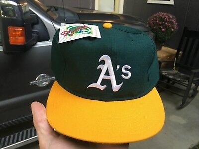 OAKLAND ATHLETICS A S New Era 7 3 4 Fitted Hat Cap USA Made W Tags ... 719225d9627