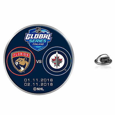 NHL Florida Panthers and Winnipeg Jets Match Up Event Pin Unisex