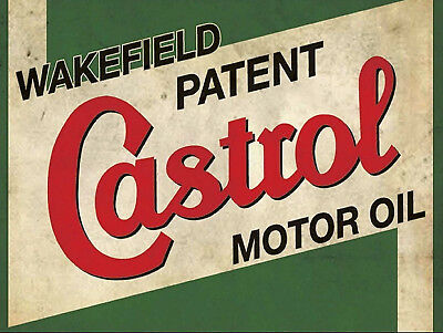 Castrol Motor Oil, Retro metal Sign vintage / man cave / Garage