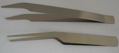 #010A 2 Pcs. Featherweight Entomology Forceps - Stainless-steel - 105 + 115 mm.