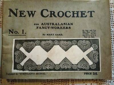 Antique Original MARY CARD Pattern Book ~ New Crochet #1 Aust Fancy Workers