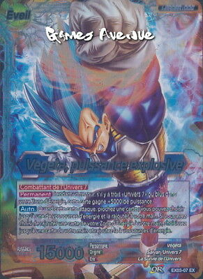 Dragon Ball Super Card Game ! Vegeta, Puissance Explosive EX03-07 VF/EX FOIL