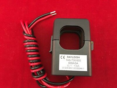 Rayleigh  TAS-T36 Single Phase  Split Core Current Transformer 600/5 Amp