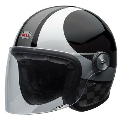 Bell Riot Motorcycle Helmet - Checks Black / Silver - All Sizes