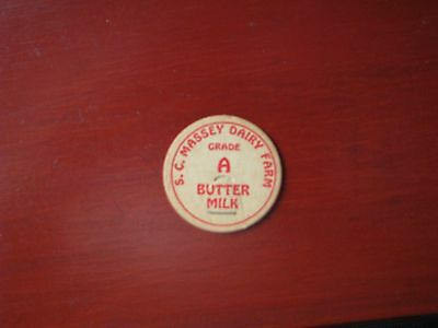 Vintage Antique S.c. Massey Dairy Farm Butter Milk Bottle Cap