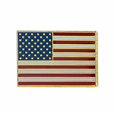 USA RECTANGLE FLAG Enamel Pin Badge Lapel Brooch Fashion Gift United States PN50