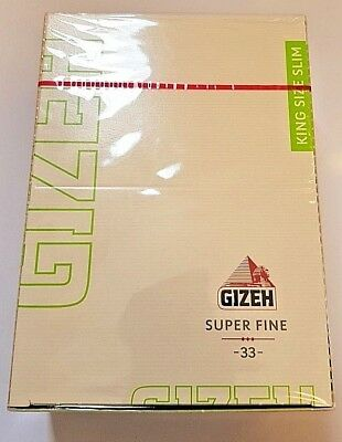 Brand New Gizeh Slim King Size Rolling Papers 50x33 Booklets 12.0 g/m Super Fine