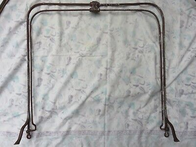 Antique brass bed 1/2 tester canopy for single.