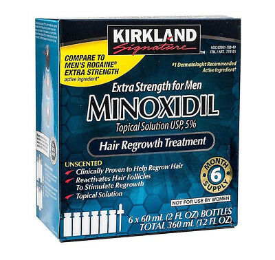 Kirkland Minoxidil 5% Extra Strength Hair Regrowth for Men 6 month supply