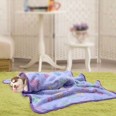 Confortable Super Chiffon doux chiot chaud molleton Pet Beige Blanket Dog Cat