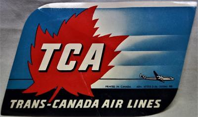 Trans Canada Airlines Souvenir Luggage Label Decal Sticker 1956 Vintage Aviation