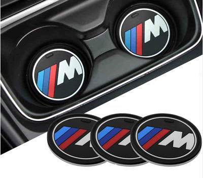 BMW M Sport Cup Bottle Holder Mat Anti-slip Pad Mat 66mm 73mm 81mm Power Silicon
