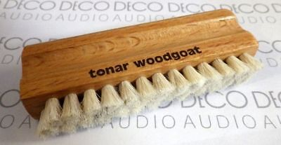 Tonar Woodgoat Record Cleaning Brush. Wood Goat Hair Wet Vinyl LP Clean. DECO