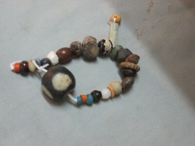Ancient Bactrian Mix Glass Beautiful Beads C 300-200. Bc # Gg105
