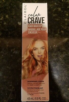 clairol copper hair color sun kissed clairol color crave temporary hair makeup shimmering copper clairol color crave